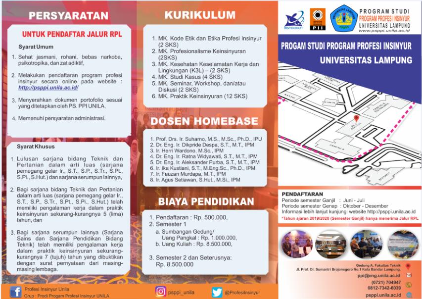 PENGUMUMAN PENERIMAAN MAHASISWA BARU PS. PROGRAM PROFESI INSINYUR TAHUN AJARAN 2019/2020